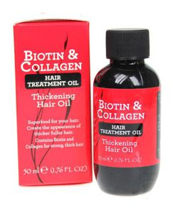 Biotin & Collagen Hair Treatment Oil - Olejek do włosów, 50 ml