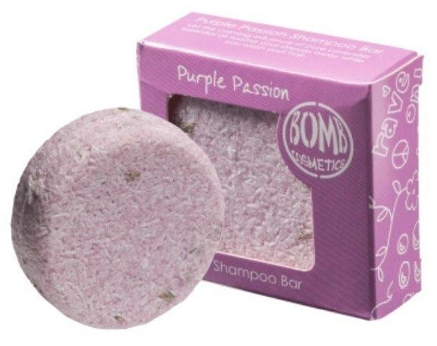Bomb Cosmetics Szampon do włosów w kostce Purple Passion 50g