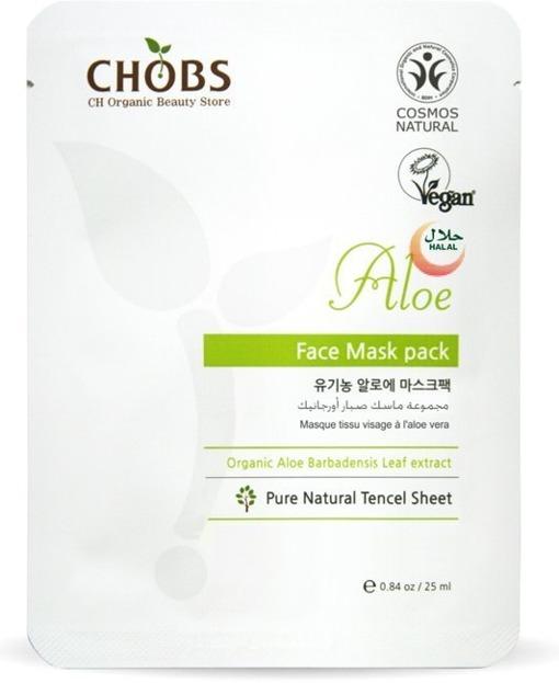 CHOBS Face Mask Pack Aloe Maseczka do twarzy kojąca 25ml