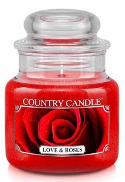 Country Candle Love&Roses Mały słoik świeca 104g