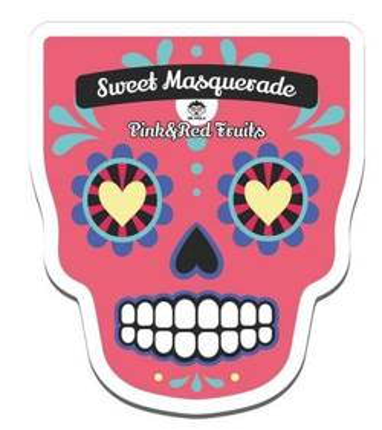 DR.MOLA Sweet Masquerade sheet mask Pink&Red Fruits Rozświetlająca maska w płachcie 23ml