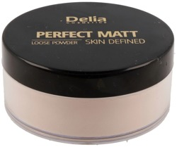 Delia PERFECT MATT Loose Powder Matujący puder sypki 43 Beige 20g