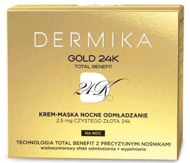 Dermika 24K Krem-Maska Nocne Odmładzanie 50ml