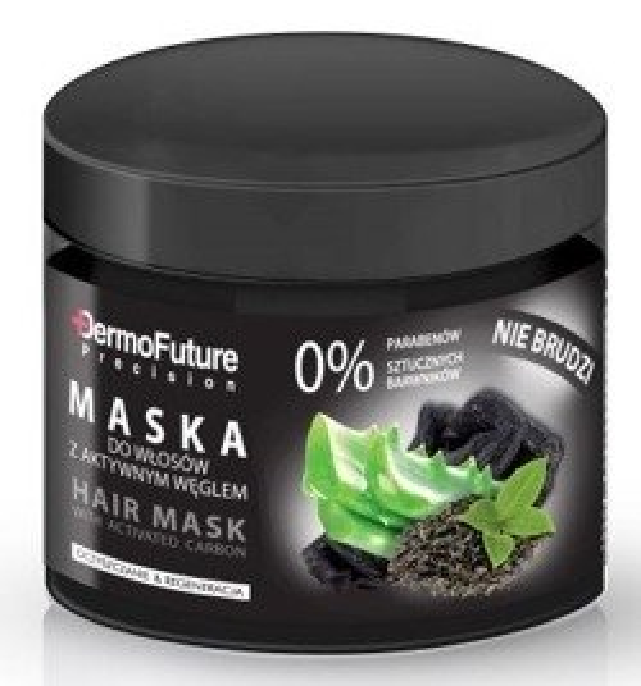 DermoFuture Maska do włosów z aktywnym węglem 300g