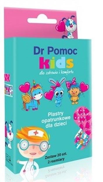 Dr Pomoc Plastry opatrunkowe Kids dziewczęce 20szt