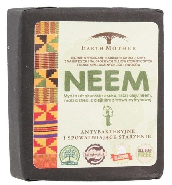 Earth Mother Mydło afrykańskie antybakteryjne NEEM 140g