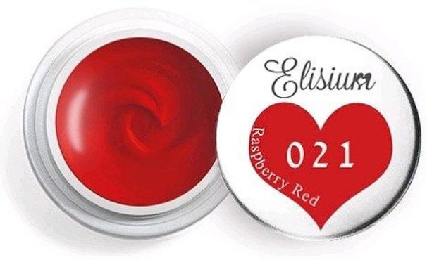 Elisium UV Gel 021 Raspberry Red 5ml Farba żelowa do zdobień
