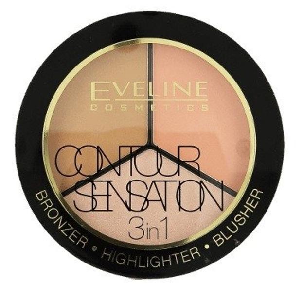 Eveline Contour Sensation 3w1 Paleta do konturowania 02
