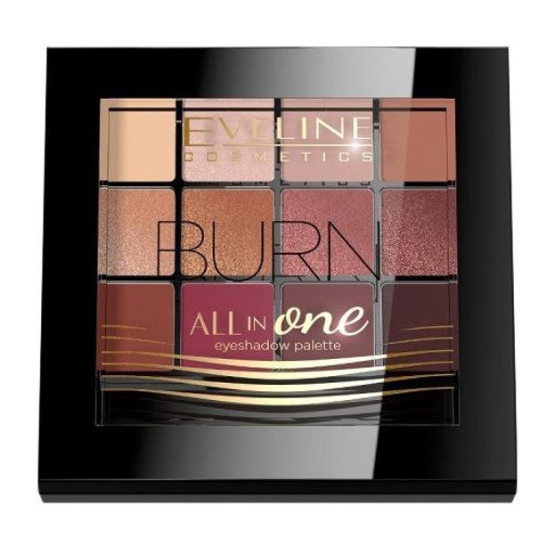 Eveline Cosmetics All In One Paleta cieni do powiek BURN 03
