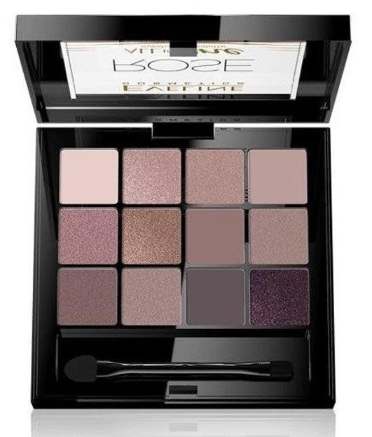 Eveline Cosmetics All In One Paleta cieni do powiek ROSE 02