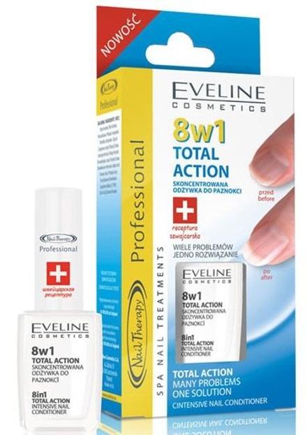 Eveline Nail Therapy 8w1 Total Action Skoncentrowana odżywka do paznokci