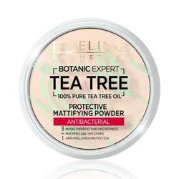 Eveline TEA TREE Puder matujący o właściwościach antybakteryjnych 01 transparent 9g