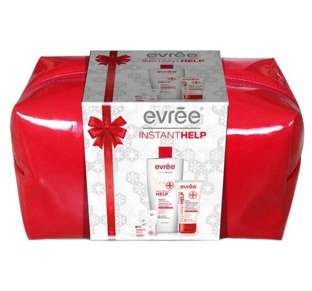 Evree Zestaw Instant Help Balsam do ciała + Krem do rąk + Multifunkcyjny balsam do ust