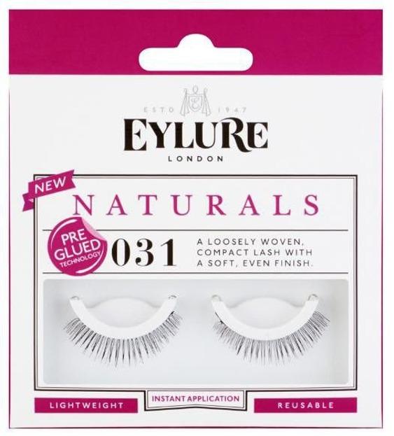 Eylure Pre - Glued Eyelashes - Rzęsy Samoprzylepne Nr 031 Naturals, 1 para