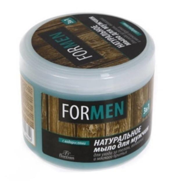 Floresan Naturalne mydło dla mężczyzn do pielęgnacji ciała, włosów i golenia 450g