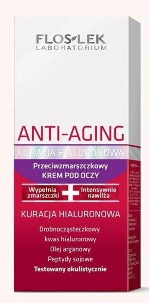 Floslek Anti Aging Kuracja Hialuronowa Przeciwzmarszczkowy krem pod oczy 30+ 30ml
