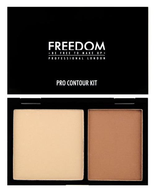 Freedom Makeup PRO Contour Kit - Zestaw pudrów do konturowania twarzy Fair