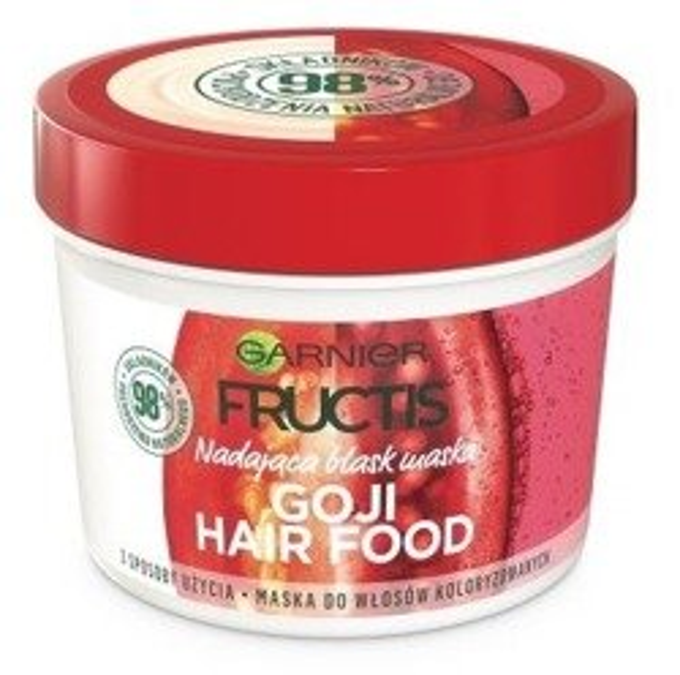 Garnier Fructis Goji Hair Food Nadająca blask maska do włosów 390ml