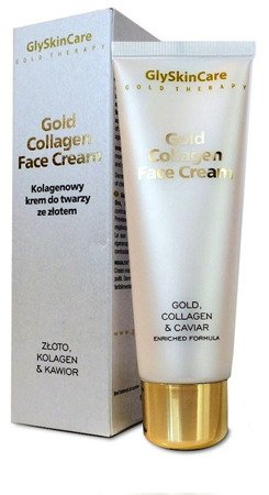 GlySkinCare Gold Collagen Face Cream Kolagenowy krem do twarzy ze złotem i kawiorem 50ml