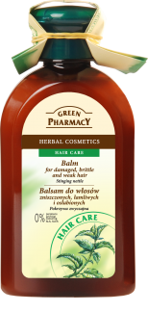 Green Pharmacy Balsam do włosów zniszczonych, łamliwych i osłabionych Pokrzywa 300ml