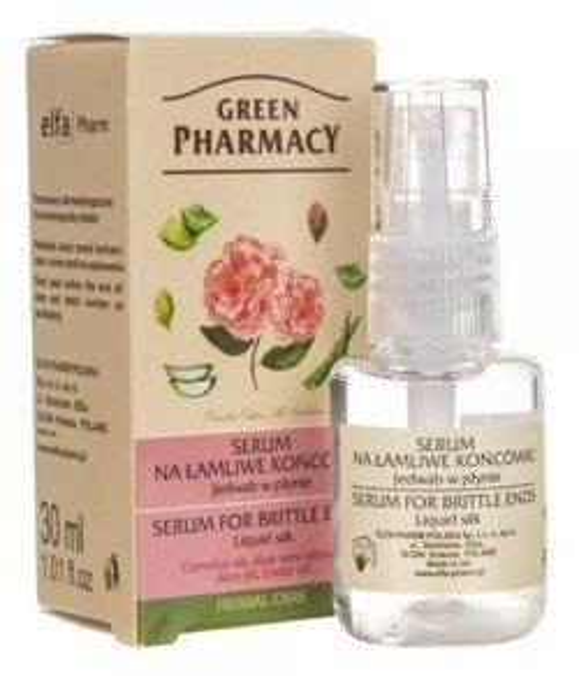 Green Pharmacy Jedwab w płynie Serum na łamliwe końcówki 30ml