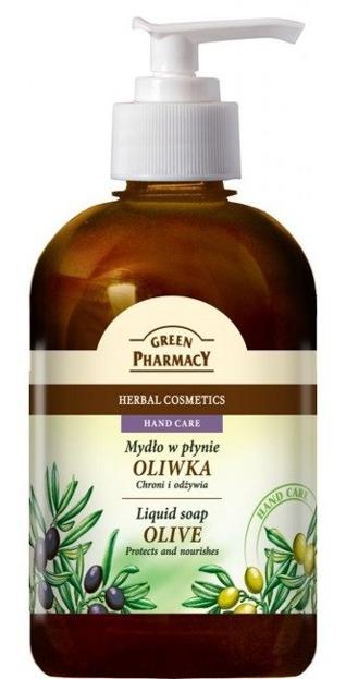 Green Pharmacy Mydło w płynie naturalne Oliwka 465ml