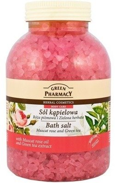 Green Pharmacy Sól kąpielowa Róża&Zielona herbata 1300g