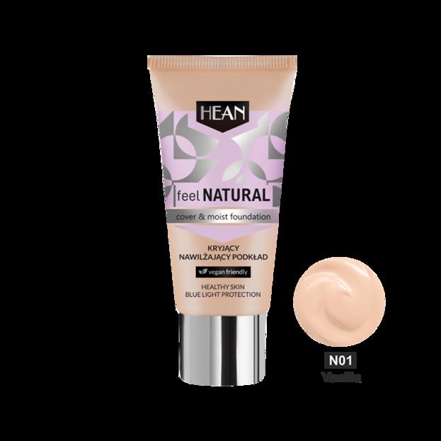 HEAN Feel Natural podkład kryjąco-nawilżający N01 Vanilla 30ml