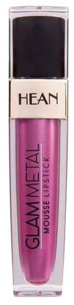 HEAN GLAM METAL Mousse Lipstick Metaliczna pomadka w płynie 505 PINKY DIVINE