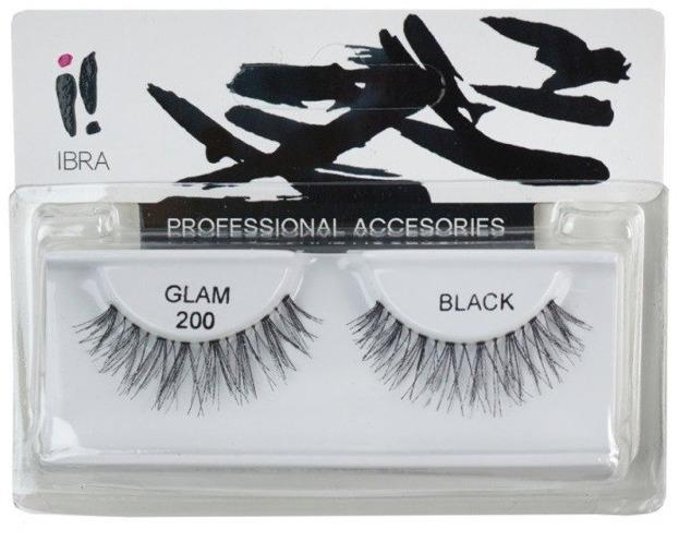IBRA Sztuczne rzęsy GLAM 200 - Black