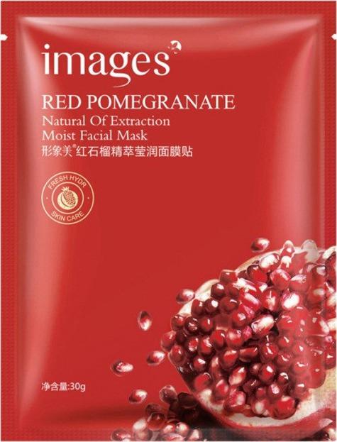 Images Maska w płachcie Red pomegranate