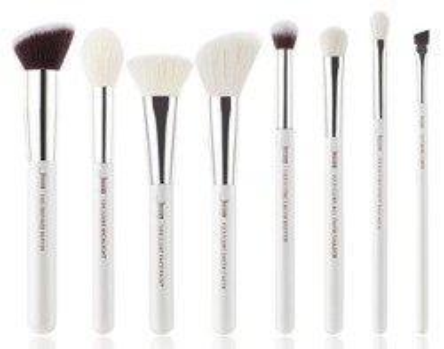 Jessup Brushes Set T239 Zestaw 8 pędzli do makijażu White/Silver