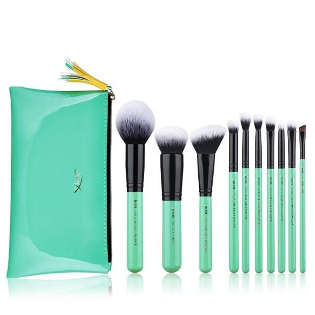 Jessup T278 Zestaw 10 Pędzli + kosmetyczka Neo Mint