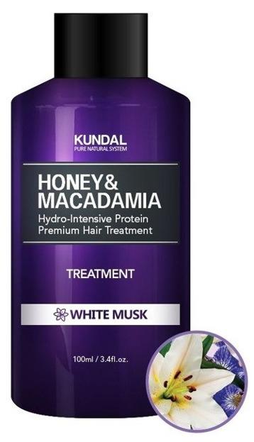 KUNDAL Honey&Macadamia Treatment White Musk Odżywka do włosów Białe piżmo 100ml