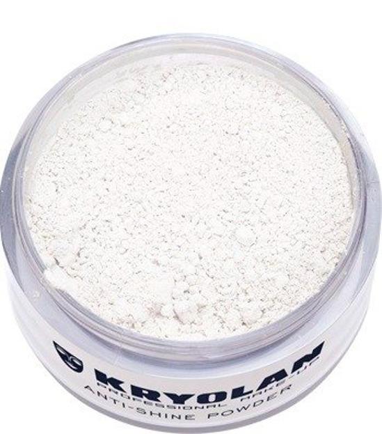 Kryolan Anti-Shine Powder - Matujący puder ryżowy transparentny, 30 g