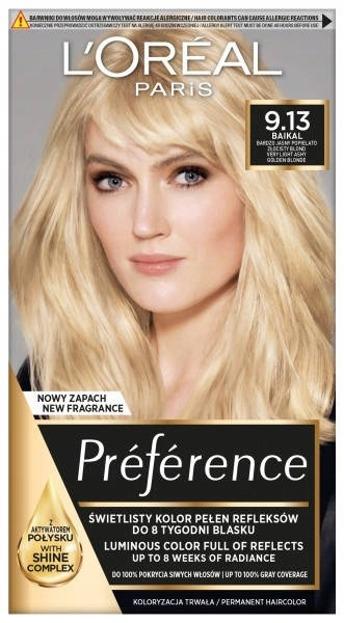 LOREAL PARIS RECITAL PREFERENCE Farba do włosów 9.13 Jasny piaskowy blond