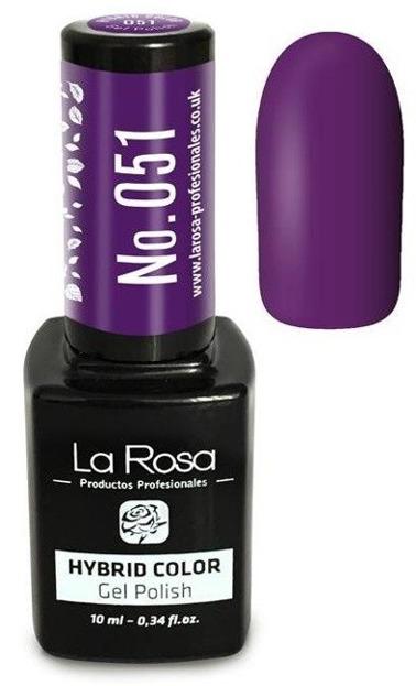 La Rosa Gel Polish Hybrid Color Lakier hybrydowy 051 10ml
