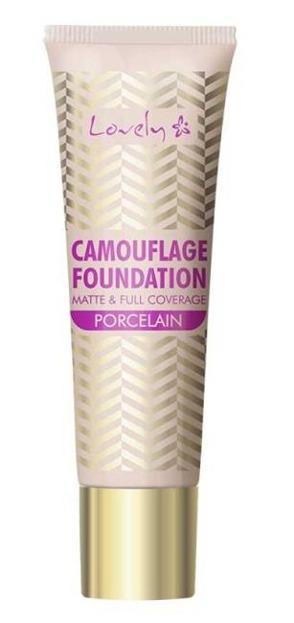 Lovely Camuflage Foundation Podkład o wysokim stopniu krycia 1 Porcelain 25g