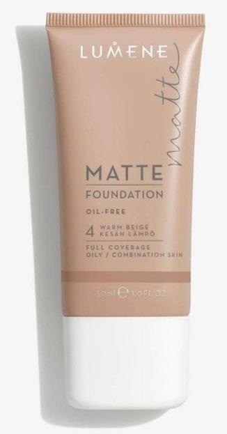 Lumene Matte Control Oil-Free Foundation - Podkład matujący  4 Warm Beige, 30 ml