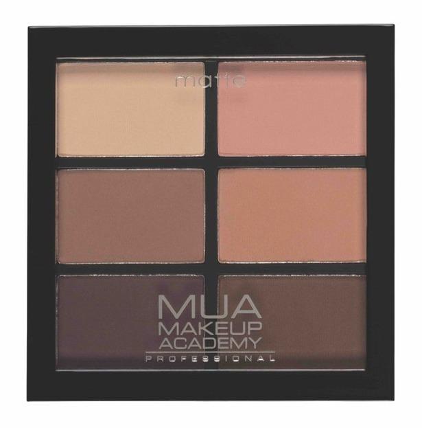 MUA 6 shade palette Paleta cieni do powiek Matte Soft Suedes 7,8g