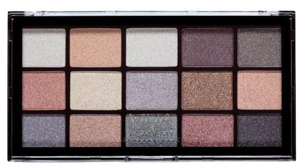 MUA Eyeshadow Palette FROSTED GLEAM Paleta 15 cieni do powiek