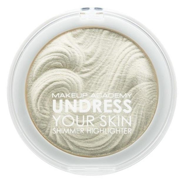 MUA Undress Your Skin Shimmer Highlighter - Rozświetlacz do twarzy i ciała Iridescent Gold  7.5g