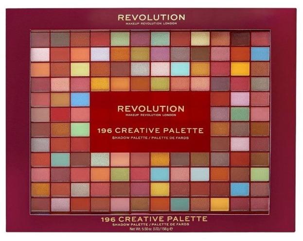 Makeup Revolution 196 Creative Palette Paleta 196 cieni do powiek Wyjątkowy Prezent
