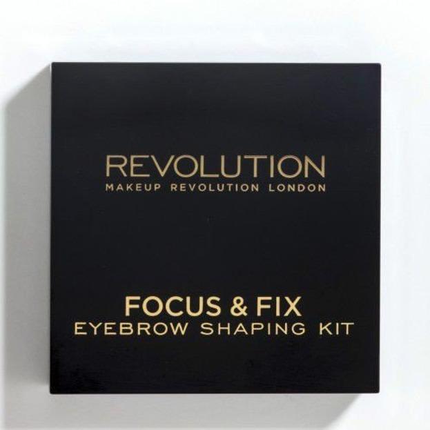 Makeup Revolution Focus & Fix Brow Kit - Zestaw do stylizacji brwi Medium Dark