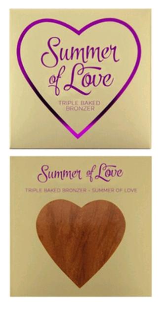 Makeup Revolution I Heart Makeup Blushing Hearts-Love Hot Summer Bronzer
