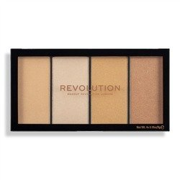 Makeup Revolution Re-Loaded Palette Lustre Lights Warm Paleta rozświetlaczy