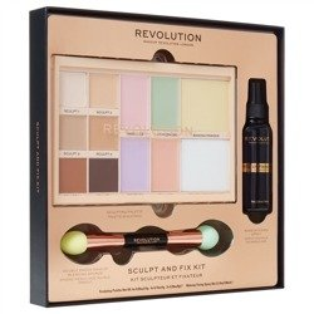 Makeup Revolution Sculpt & Fix Kit Zestaw Wyjątkowy Prezent