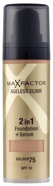 Max Factor, Ageless Elixir 2in1 Foundation+Serum, Podkład 2 w 1 fluid+serum, 75 Golden