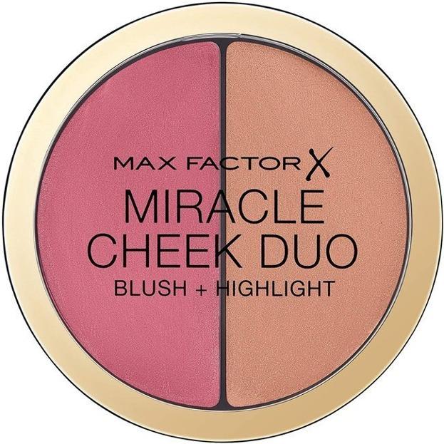 Max Factor Miracle Cheek Duo Blush + Highlight Duo róż + rozświetlacz 30 Dusky Pink & Copper 11g