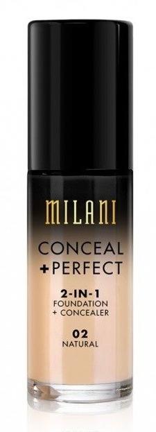 Milani Conceal+Perfect 2in1 Foundation+Concealer - Podkład kryjący o właściwościach korektora 02 Natural